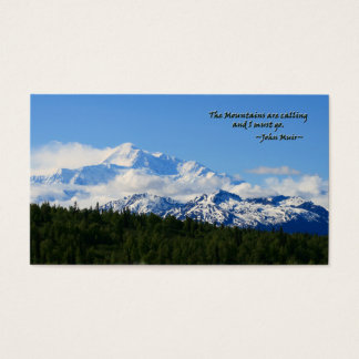 Mtns are calling/Denali-J Muir Business Card