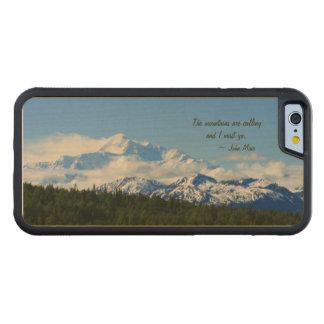 Mtns are calling / Denali - J Muir Carved® Maple iPhone 6 Bumper Case