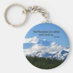 Mtns are calling / Denali - J Muir Basic Round Button Keychain