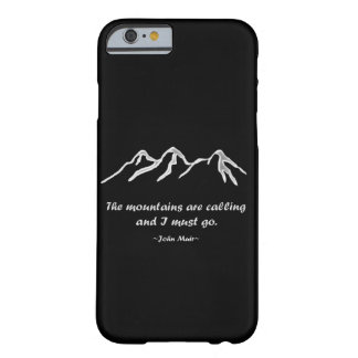 Mtns are calling/Snowy blizzard on Black Design Barely There iPhone 6 Case