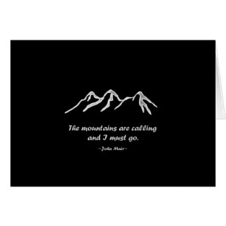 Mtns are calling/Snowy blizzard on Black Design Card