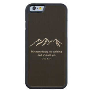 Mtns are calling/Snowy blizzard on Black Design Carved® Maple iPhone 6 Bumper Case