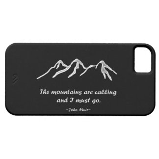 Mtns are calling/Snowy blizzard on Black Design iPhone SE/5/5s Case