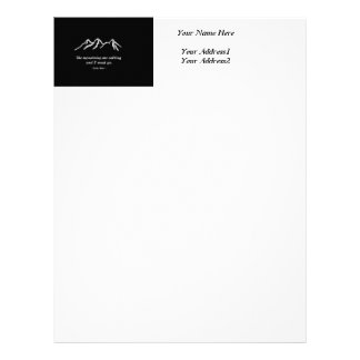 Mtns are calling/Snowy blizzard on Black Design Letterhead