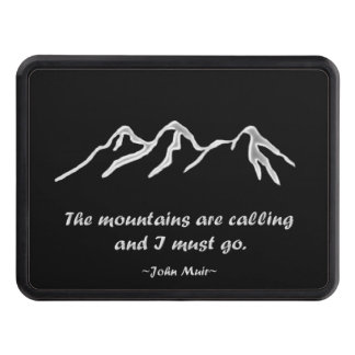 Mtns are calling/Snowy blizzard on black Hitch Cover
