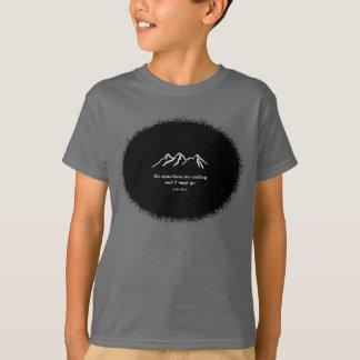 Mtns are calling/Snowy blizzard on Black splatter T-Shirt