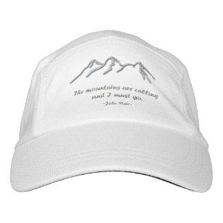 Mtns are calling / Snowy Metallic Design Headsweats Hat