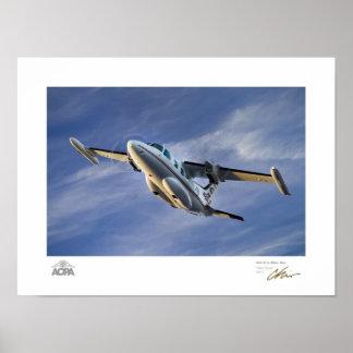 MU-2 in Blue Sky Gallery Poster