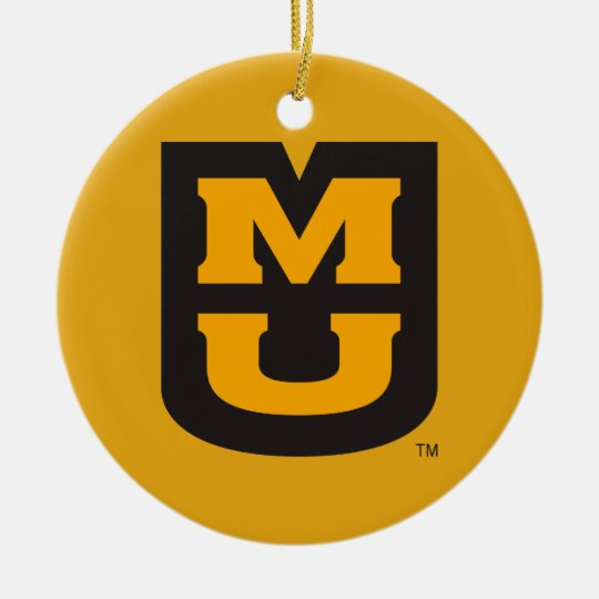 MU Logo Ceramic Ornament