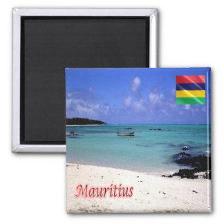 MU - Mauritius - Deer Island 2 Inch Square Magnet