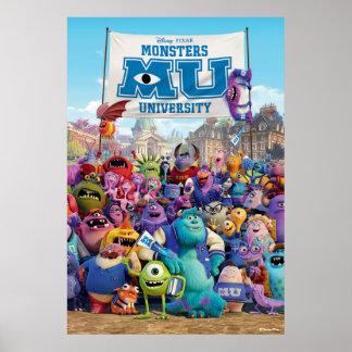 MU Monsters University   Movie Poster