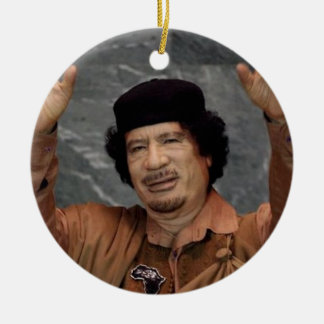 Muammar Gaddafi Green Libya Ceramic Ornament