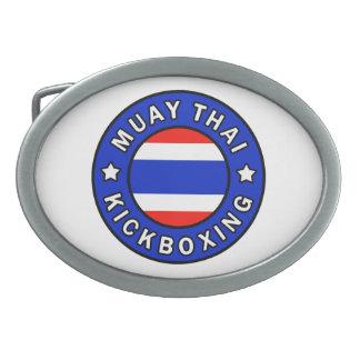 Muay Kickboxing tailandés Hebillas Cinturón Ovales