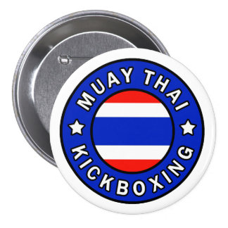 Muay Kickboxing tailandés Pin Redondo De 3 Pulgadas