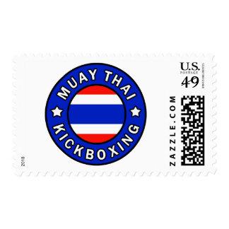 Muay Kickboxing tailandés Timbre Postal