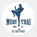 Muay Tailandia tailandesa Inglaterra Pegatinas Redondas