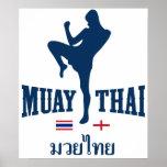 Muay Tailandia tailandesa Inglaterra Poster