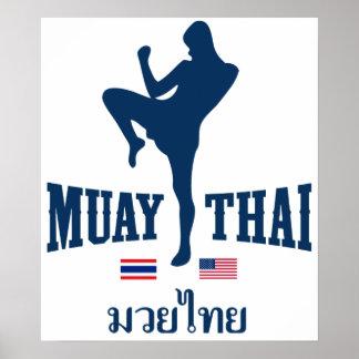 Muay Tailandia tailandesa los E.E.U.U. Póster