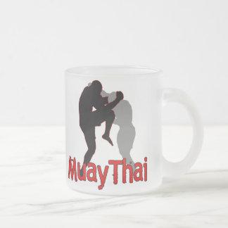 Muay Thai4 Frosted Glass Coffee Mug
