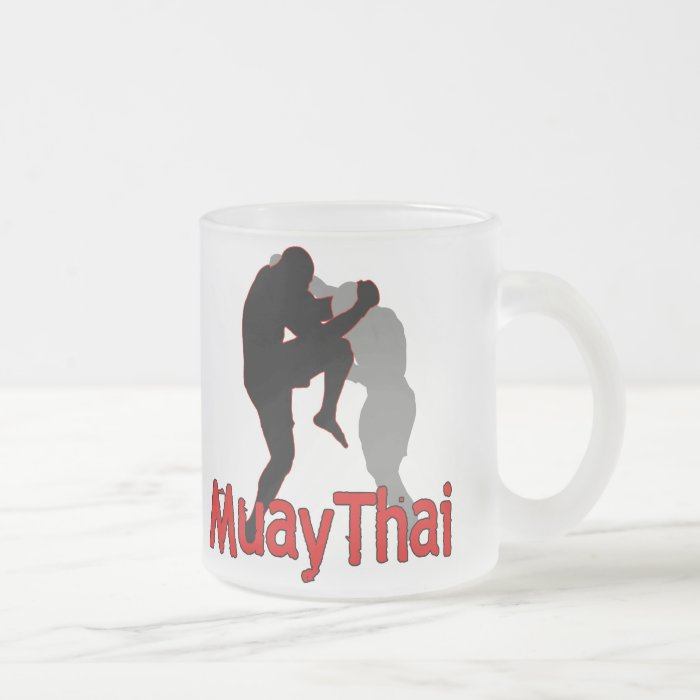 Muay Thai4 Frosted Glass Coffee Mug