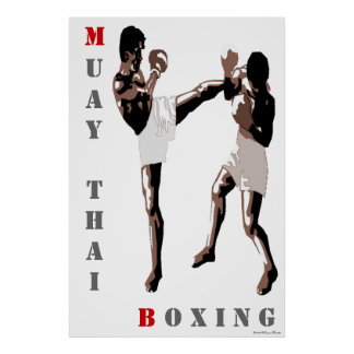 Muay Thai Boxing Poster