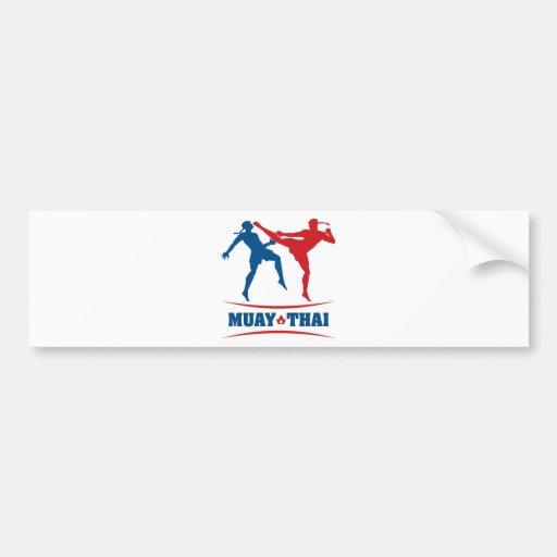 Muay Thai Car Bumper Sticker