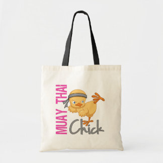 Muay Thai Chick Tote Bags
