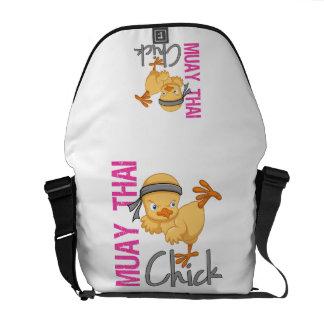 Muay Thai Chick Messenger Bags