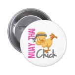 Muay Thai Chick Pinback Button