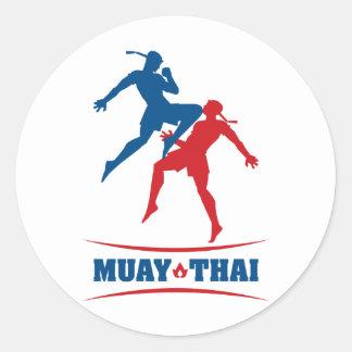Muay Thai Classic Round Sticker