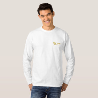 Muay Thai Embroidered Long Sleeve T-Shirt