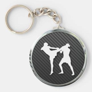 Muay Thai Icon Basic Round Button Keychain