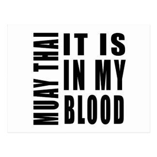 Muay Thai It Is In My Blood Postcard