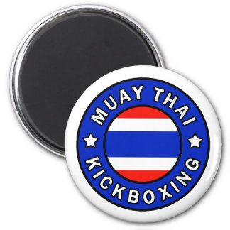 Muay Thai Kickboxing 2 Inch Round Magnet