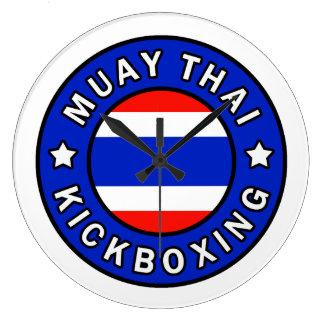 Muay Thai Kickboxing Large Clock