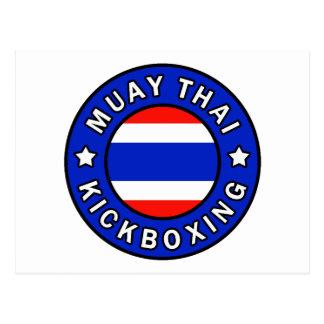 Muay Thai Kickboxing Postcard