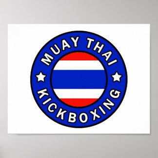 Muay Thai Kickboxing Poster