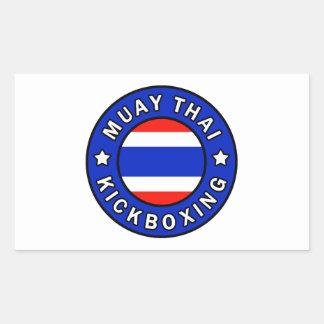 Muay Thai Kickboxing Rectangular Sticker
