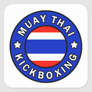 Muay Thai Kickboxing Square Sticker