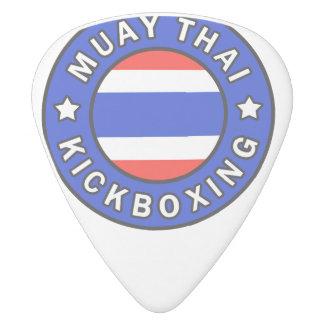 Muay Thai Kickboxing White Delrin Guitar Pick