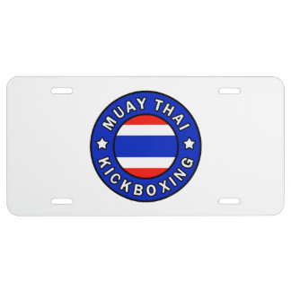 Muay Thai License Plate