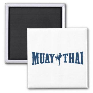 Muay Thai Logo 2 Inch Square Magnet
