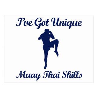 muay thai martial art designs postcard