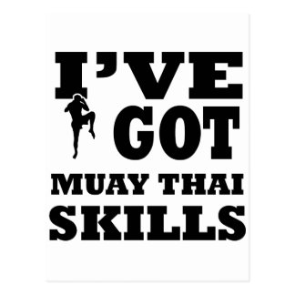 Muay Thai Martial Arts designs Postcard