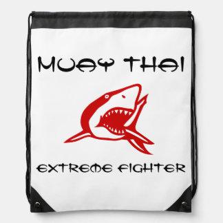 Muay Thai Martial Arts Fighter Drawstring Backpacks