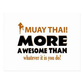Muay Thai Martial arts gift ietms Postcard