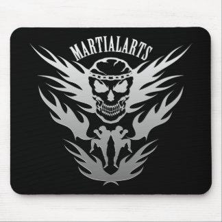 Muay Thai, Martial Arts, Kick Boxing and Skull Mouse Pad