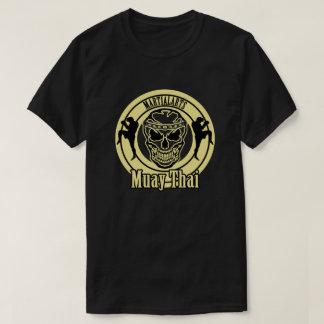 Muay Thai, Martial Arts, Kick Boxing and Skull T Shirt