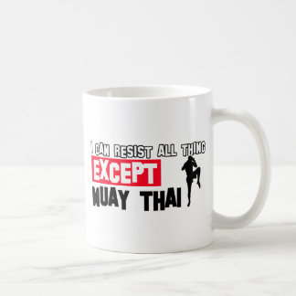 muay thai mrtial design coffee mug
