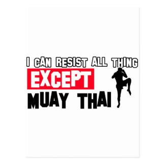 muay thai mrtial design postcard